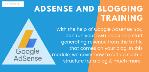Blogging and adsense training
